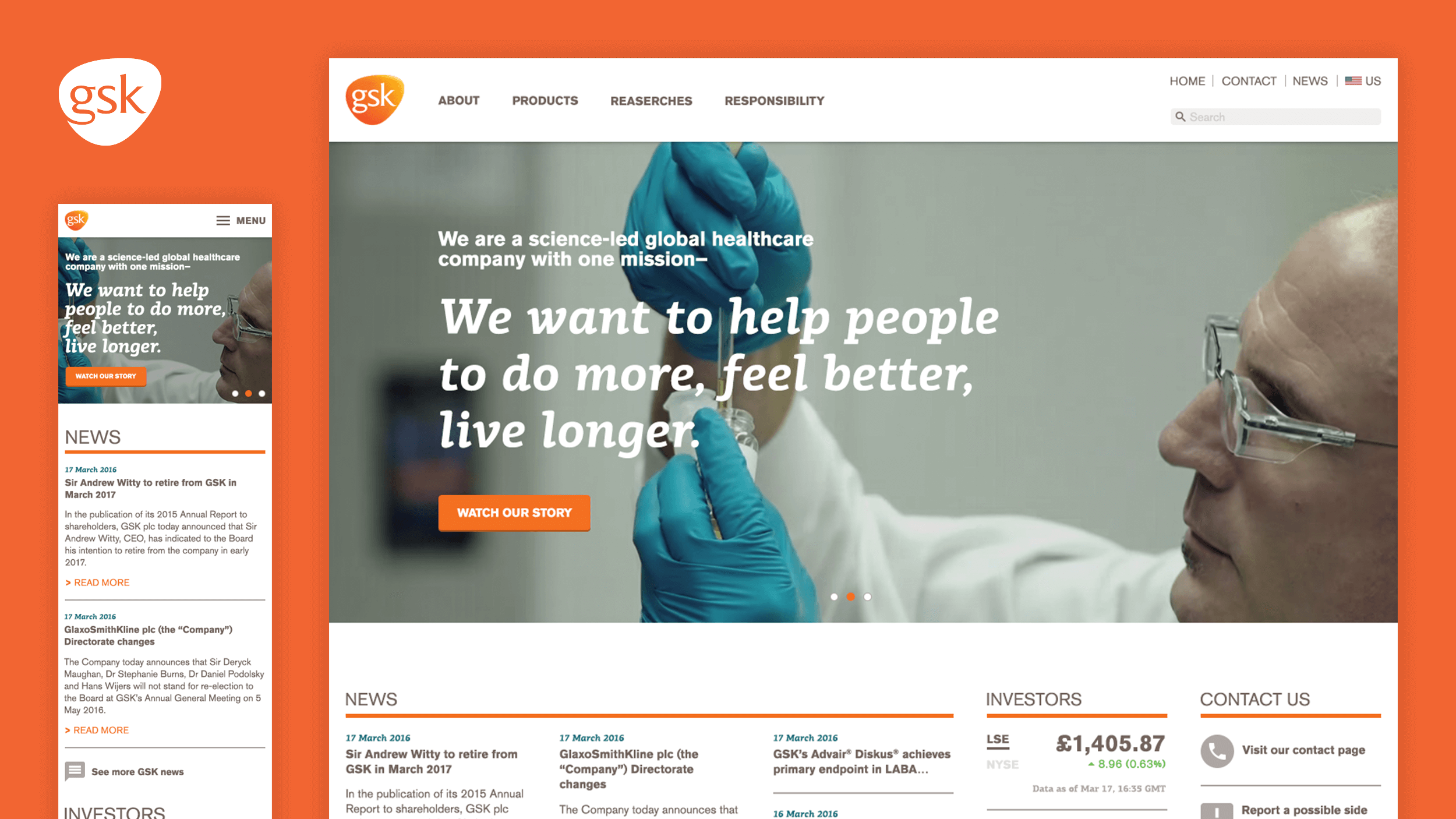 GSK Redesign Cover: Homepage