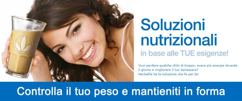 soluzioni nutrizione in base alle tue esigenze