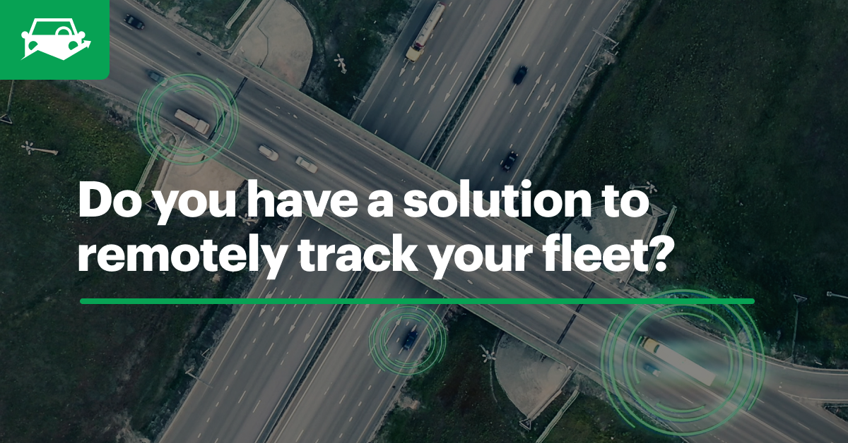 Vehicle tracking app visual