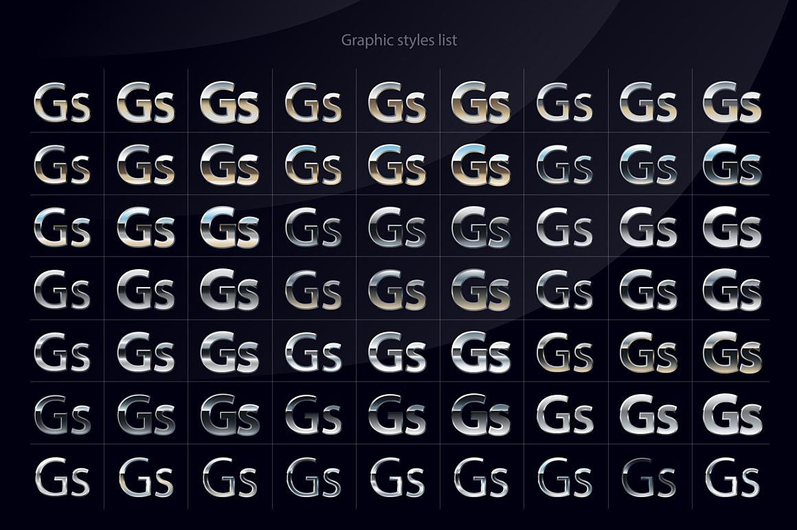 Chromesilver Illustrator styles images/chromesilver_2_ai_styles_styles.jpg