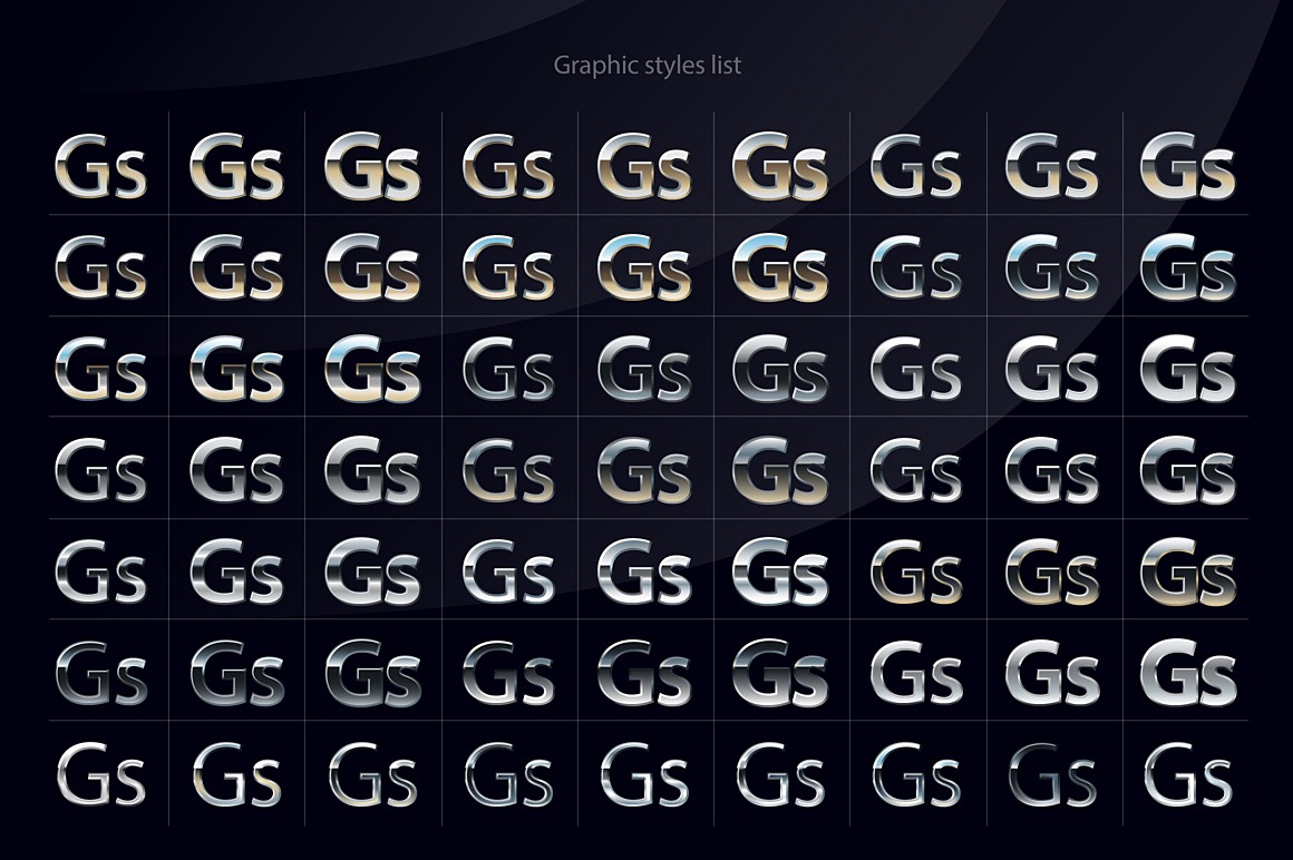 Chromesilver Illustrator styles chromesilver_2_ai_styles_styles.jpg