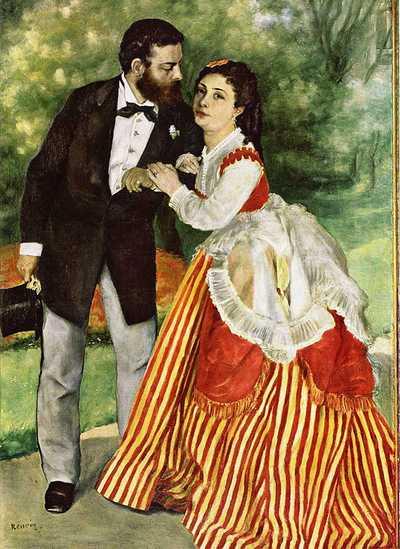 'Alfred Sisley and his Wife', painted by Pierre-Auguste Renoir in 1868