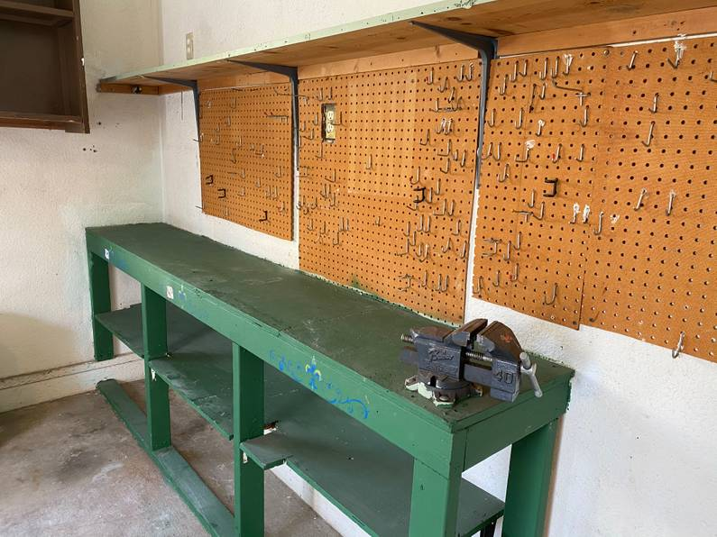 The workbench anchored about 8 times into the concrete floor alone. It was unbelievably sturdy!