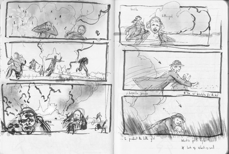 Suite Française first rough storyboard 07