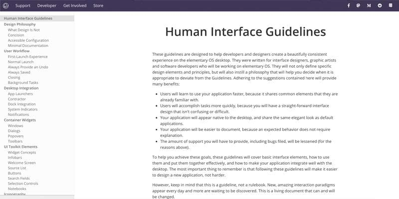 Elementary - Human Interface Guidelines