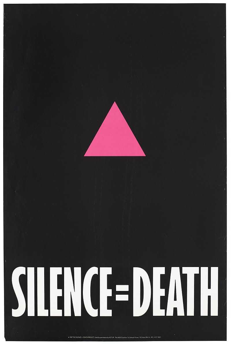 Silence=Death by Avram Finkelstein and others