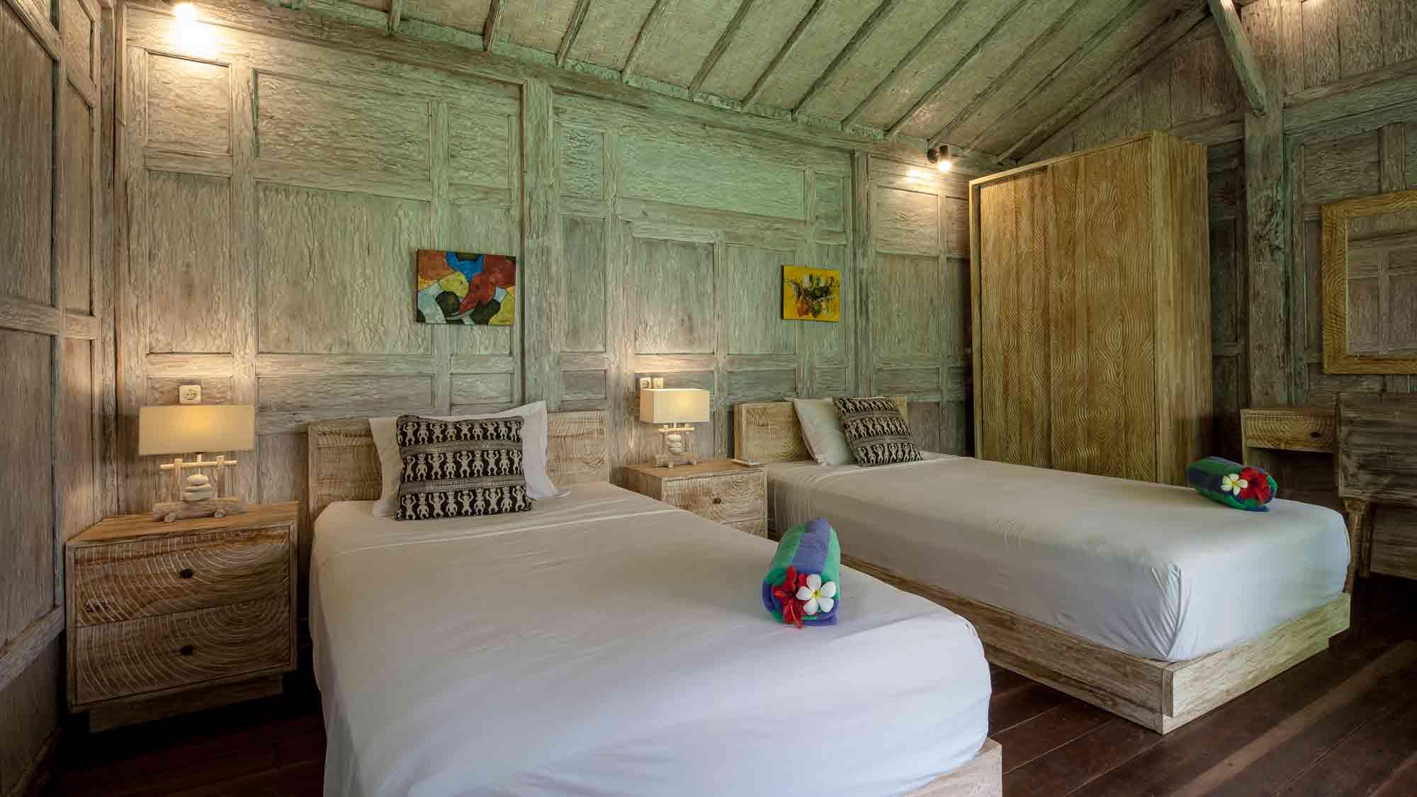 White Gladak room at Eat Sleep Skate Bali