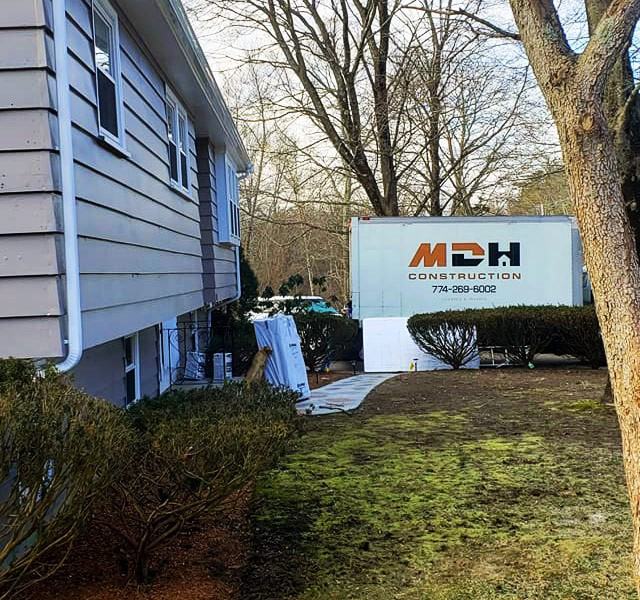 MDH Construction has trucks servicing Massachusetts, located in Plymouth, MA