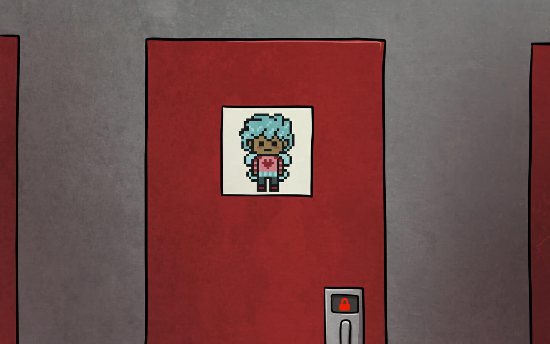 Michi's door.