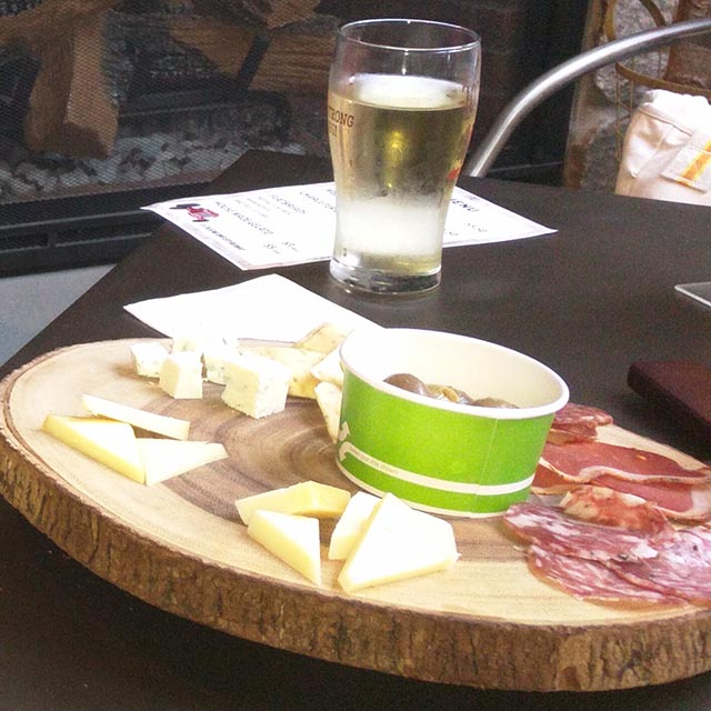 A charcuterie board at the Lookout Farm Taproom in Natick, MA