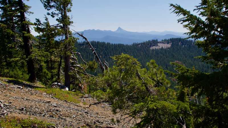 Looking ahead to Mt. Thielsen