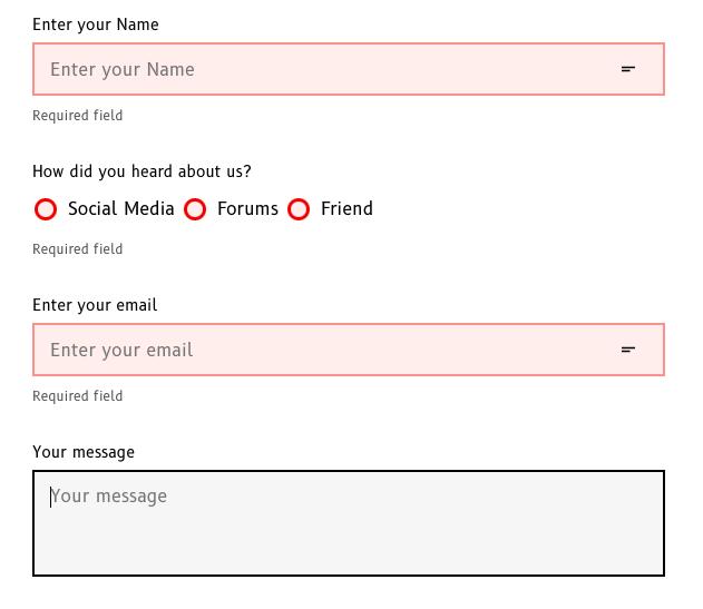 Validating forms