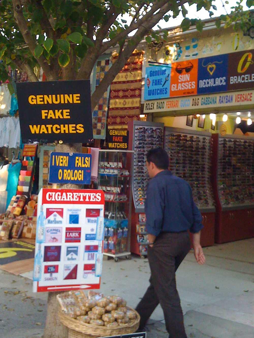 Marketing genius at work: Genuine Fake Watches, Ephesus