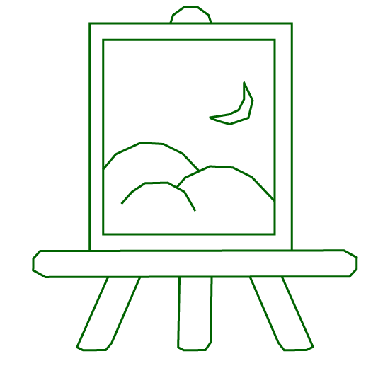 painting of landscape icon