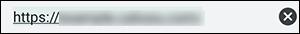 Android ChromeのURL入力欄の画像