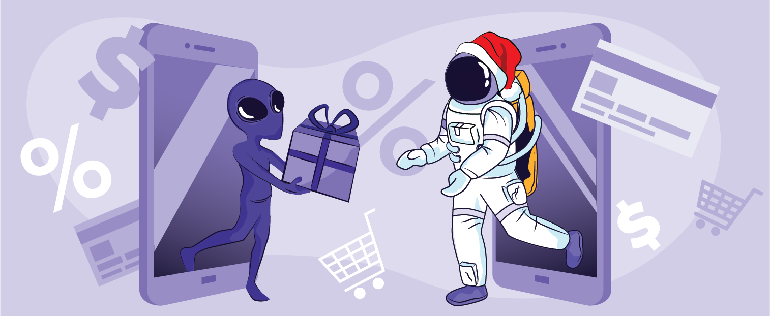 illustration of a blog post: Four PPC Tips to Improve Your Holiday Sales
