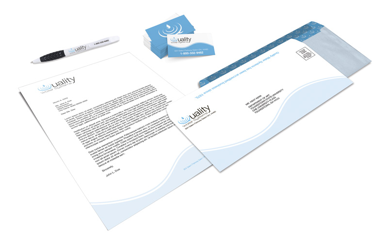 Quality Water Systems Stationery