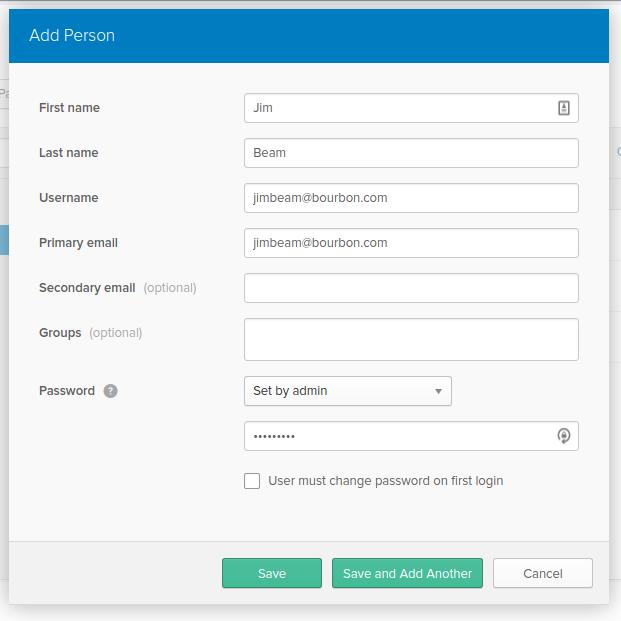 Create User Screen