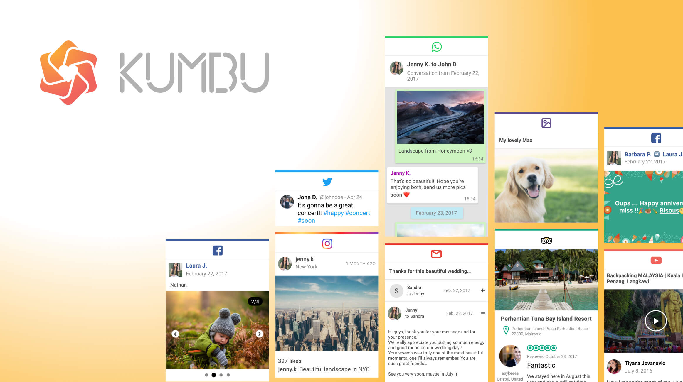 Kumbu helps you save social media memories