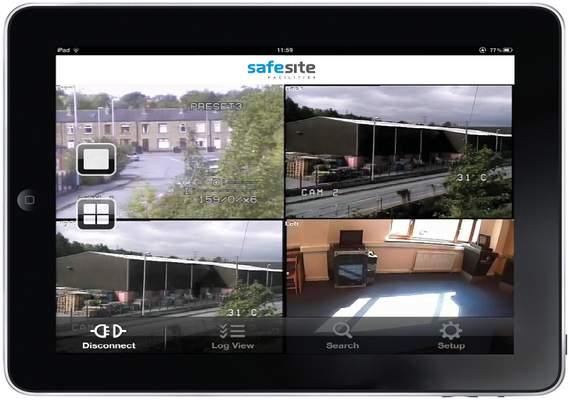 iPad CCTV monitoring