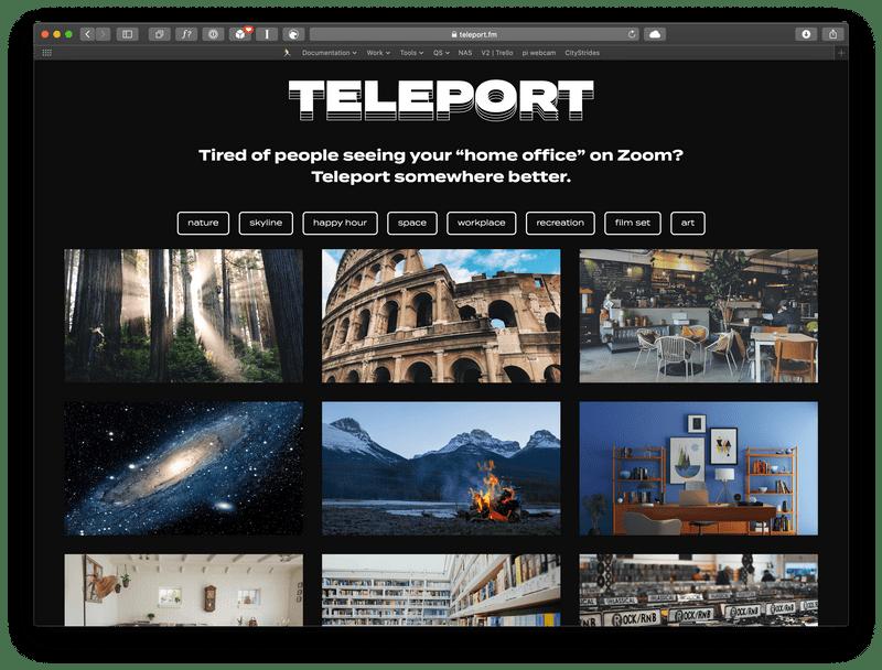Teleport.fm screenshot