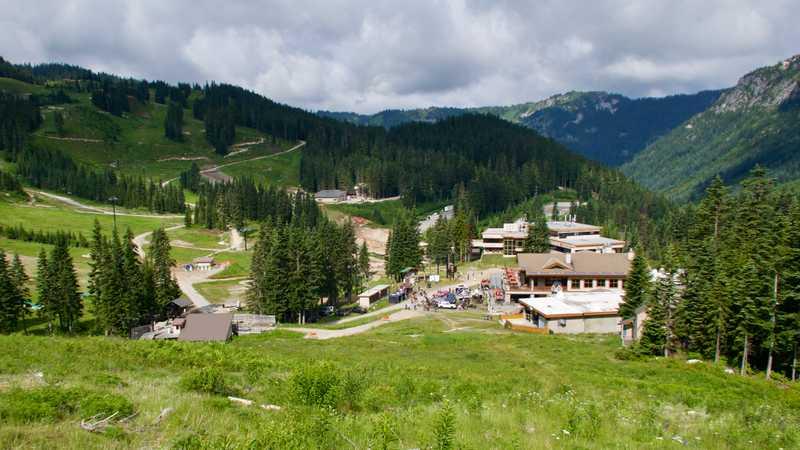 View of Stevens Pass ski resort