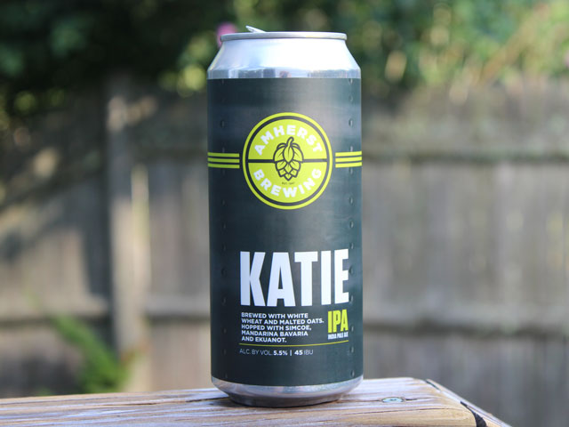 Katie, an IPA brewed by Amherst Brewing Company