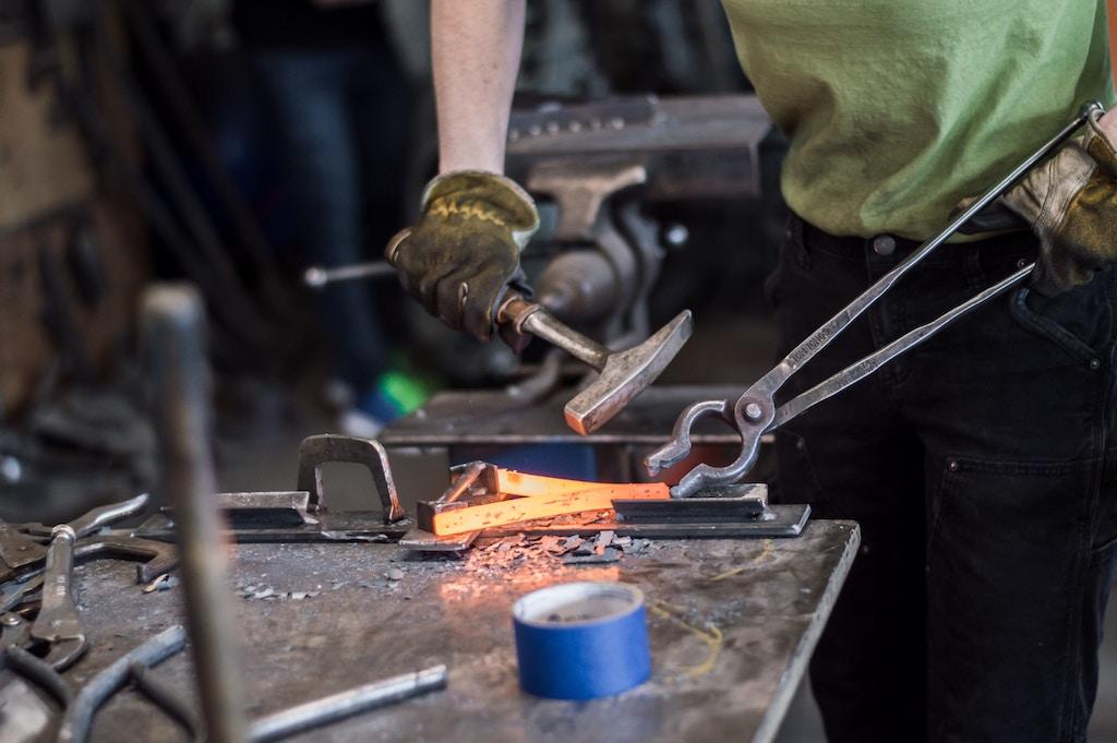Iron forging - Photo by Maranda Vandergriff on Unsplash