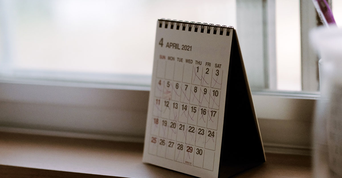 instant deposits calendar