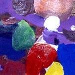 "Kadrin Laade, Germany. ""Untitled"" 1999. Canvas, oil, acrylic, 19x22"