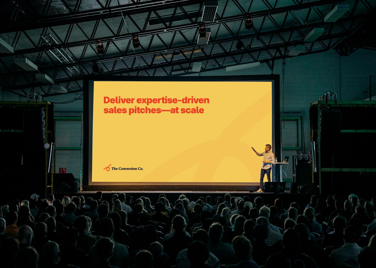 Keynote presentation slide for marketing agency