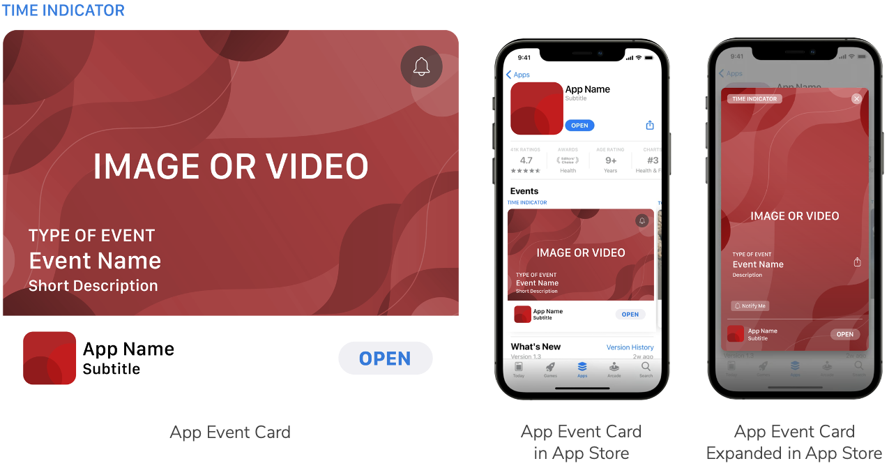 App Event Card, App Event in App Store, App Event Card Expanded in App Store