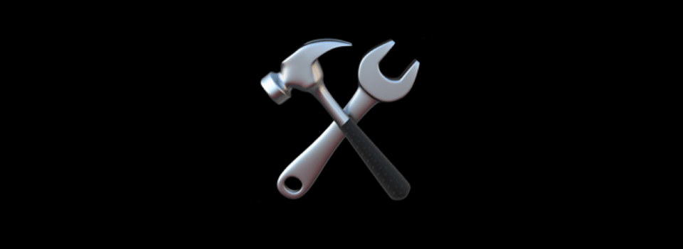 Hammer and spanner cross emoji