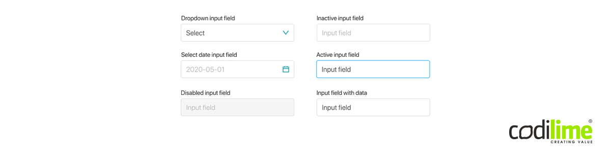 All types of input fields