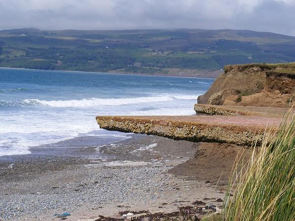 Coastal erosion, Wales