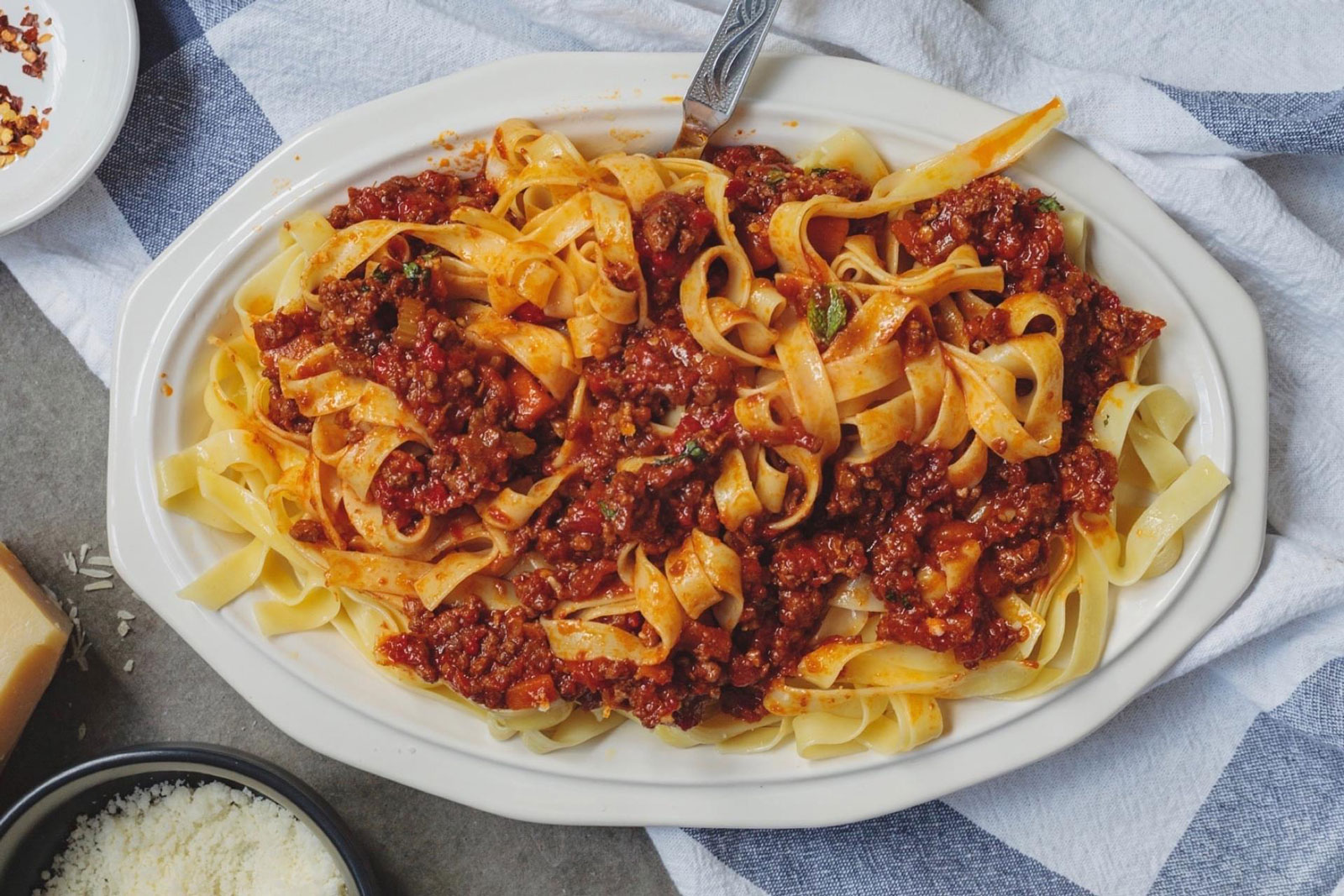 Roasted Red Pepper Harissa Lamb Ragu