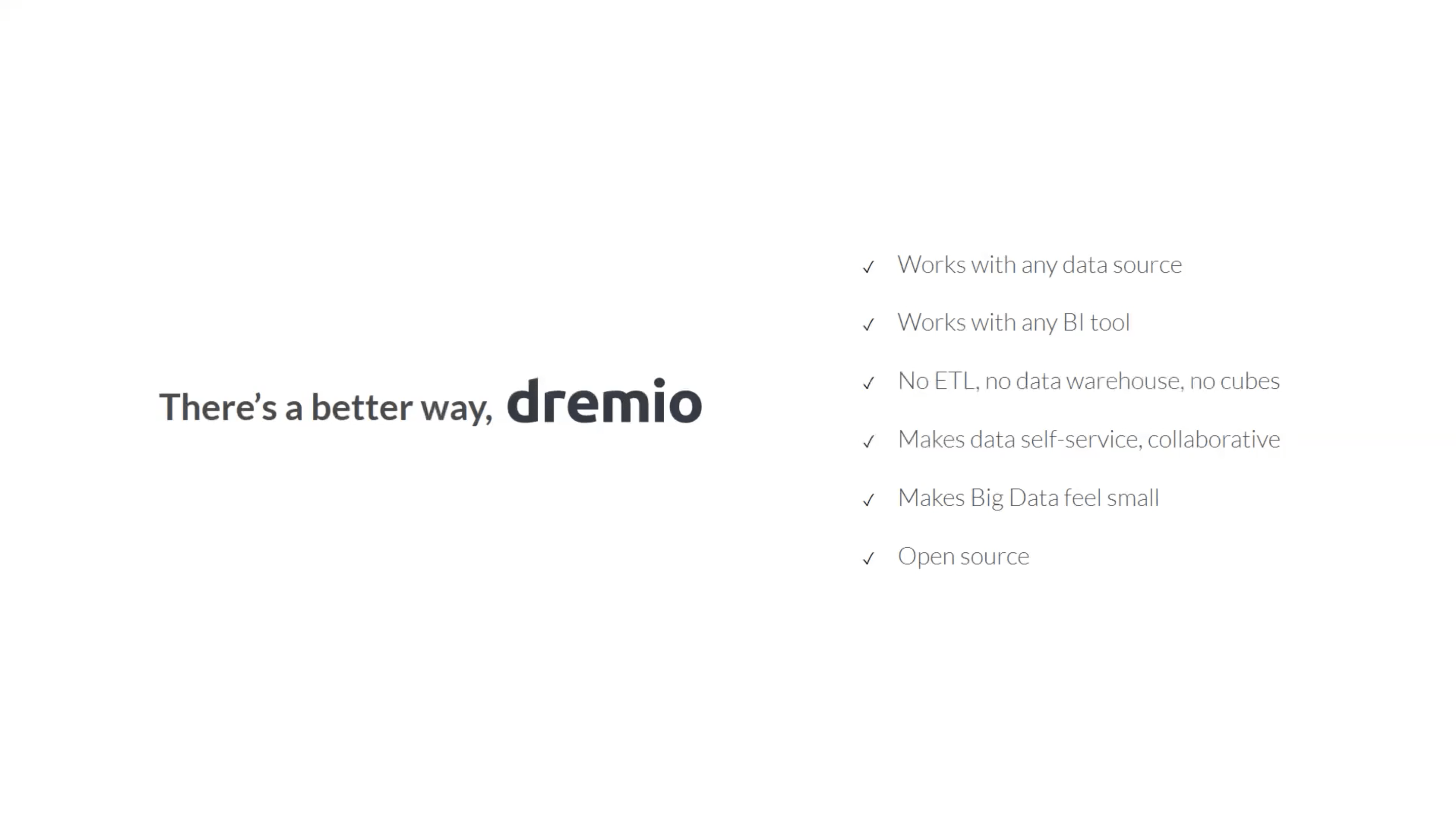 cloud analytics options with Dremio