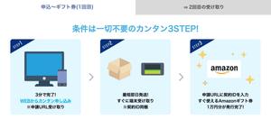 JPWiMAXの1回目のAmazonギフト受け取り方法