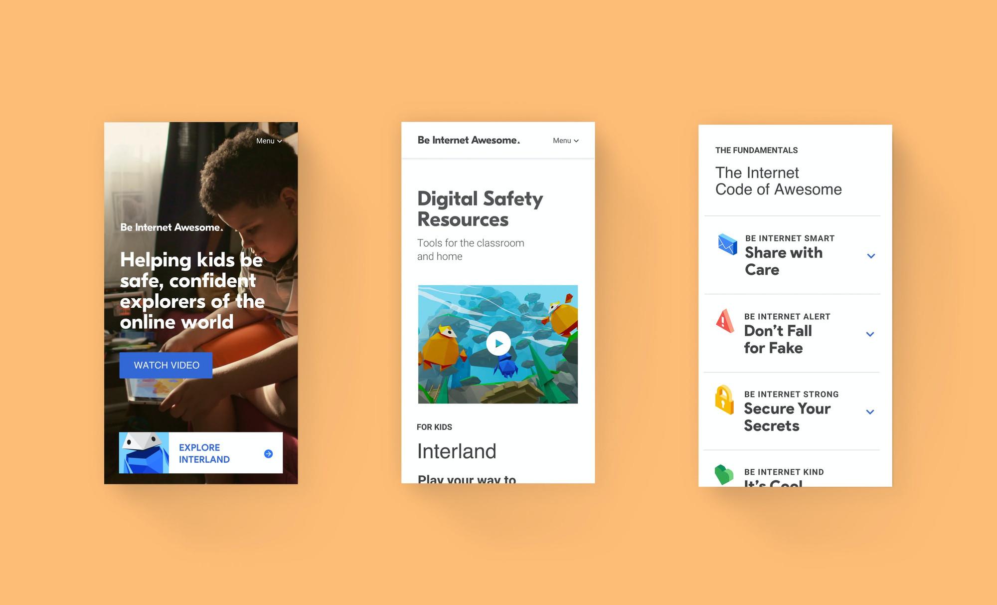 3 Google Interland mobile designs