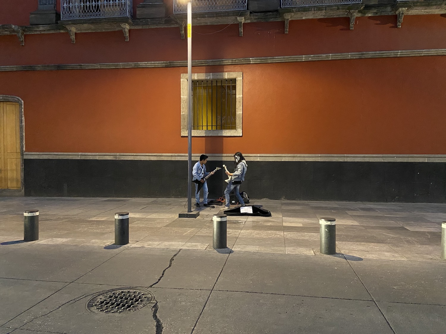 Young street musicians in Mexico City.