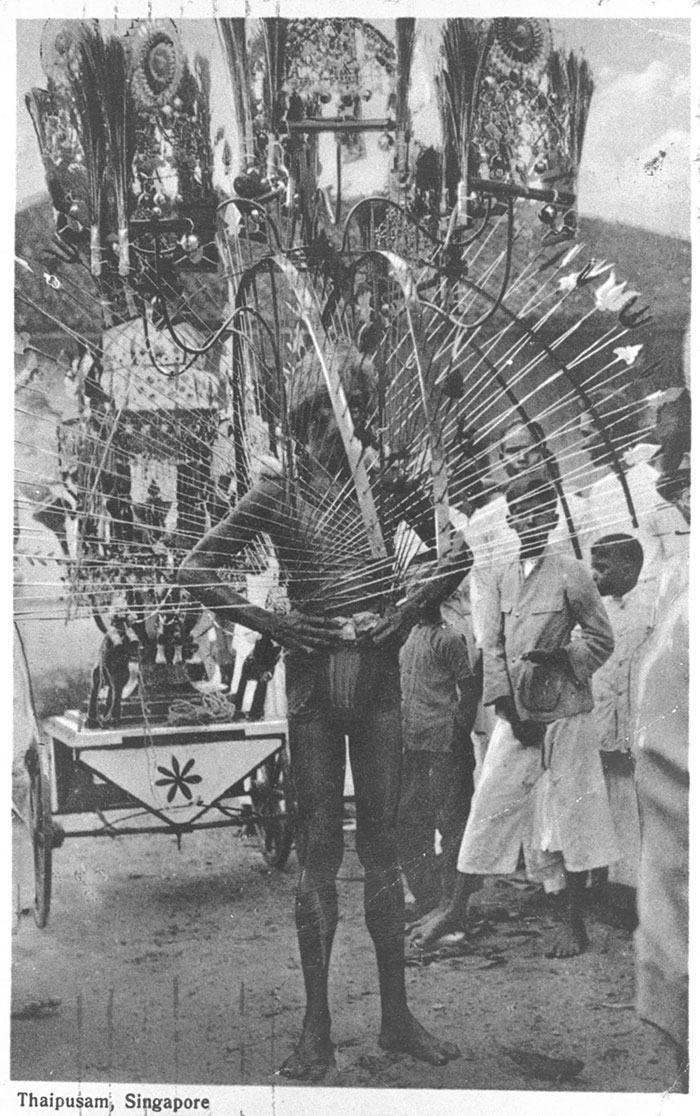 Kavadi-bearer at Thaipusam festival, 1934