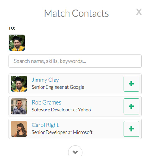 example employee referral screenshot