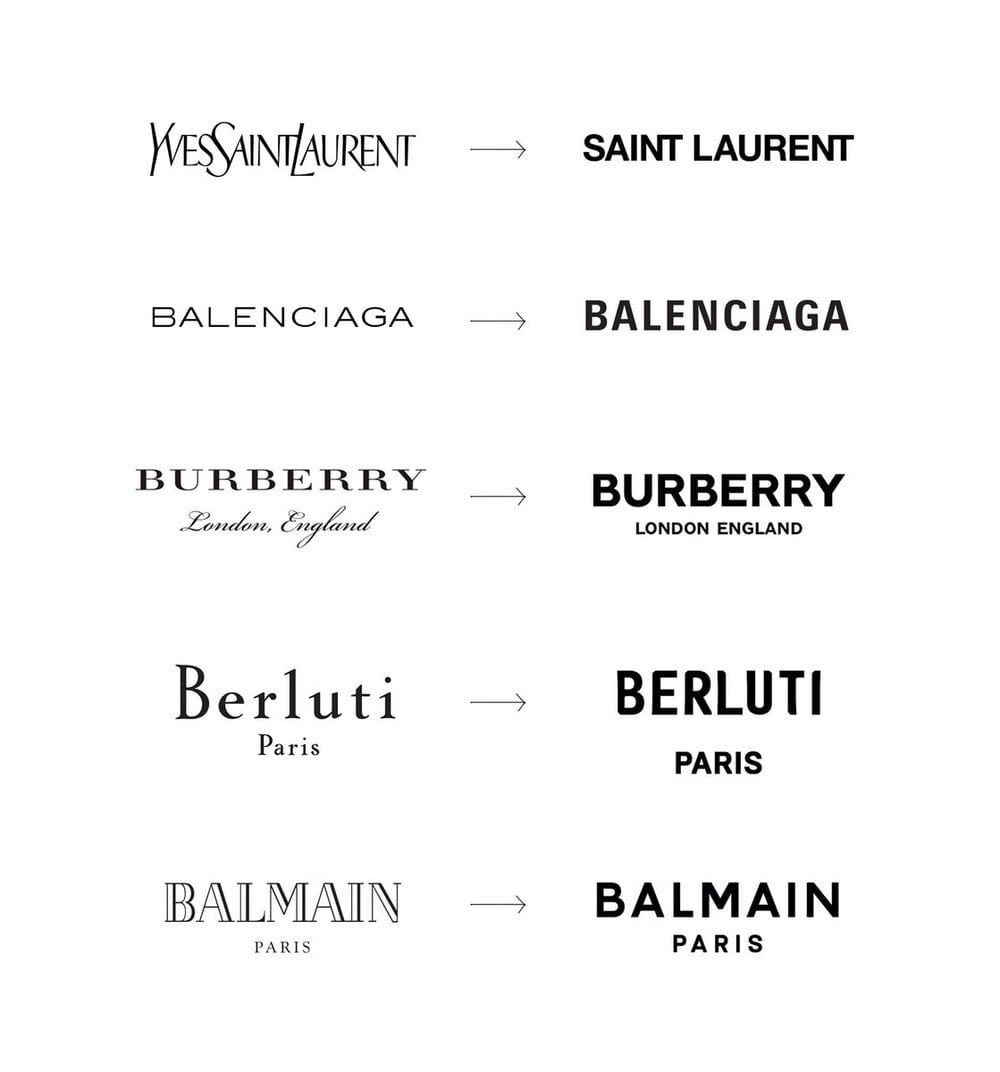 Recent rebrands in the fashion industry