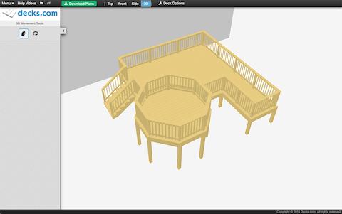Decks.com 3d Visual Configuator