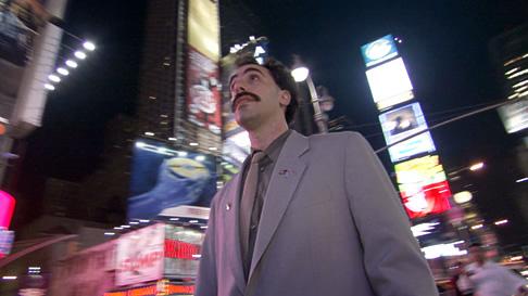 Borat in Times Square, New York