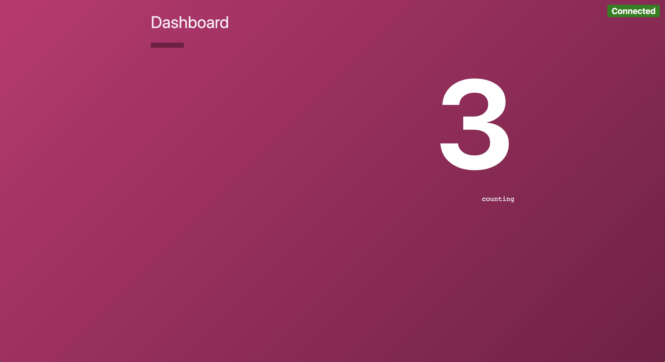 Dashboard service