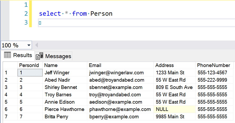 SSMS Query showing results after some update statements