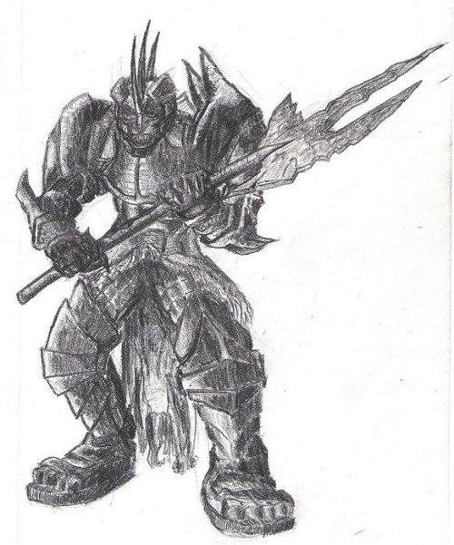 Axe Warrior Sketch