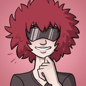 Aoi smiles.