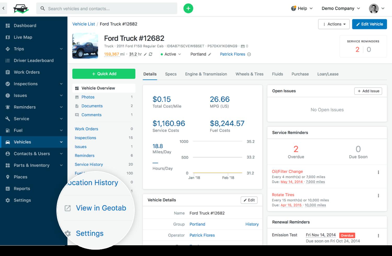 vehicle profile integration link